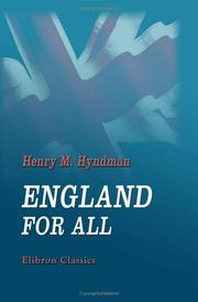 Cover of: England for All