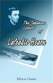 Cover of: The Japanese Letters of Lafcadio Hearn | Lafcadio Hearn
