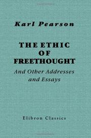 Cover of: The ethic of freethought