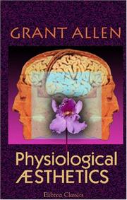 Cover of: Physiological Æsthetics