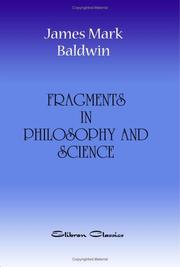 Cover of: Fragments in Philosophy and Science Being Collected Essays and Addresses