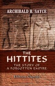 Cover of: The Hittites | Archibald Henry Sayce
