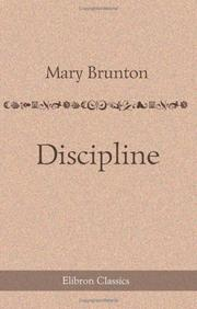 Cover of: Discipline | Mary Brunton