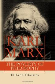 Cover of: The Poverty of Philosophy | Karl Marx