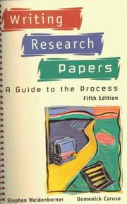 Cover of: Writing research papers
