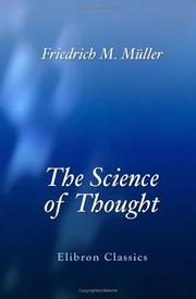 Cover of: The Science of Thought | Friedrich Max MГјller