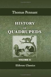 Cover of: History of Quadrupeds: Volume 2