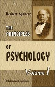 Cover of: The Principles of Psychology