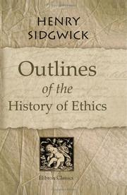 Cover of: Outlines of the History of Ethics