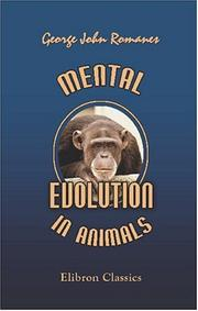 Cover of: Mental Evolution in Animals