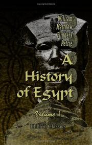 Cover of: A History of Egypt