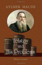Cover of: Tolstoy and his problems