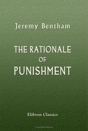 Cover of: The Rationale of Punishment | Jeremy Bentham
