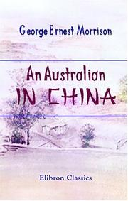 Cover of: An Australian in China