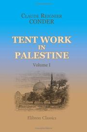 Cover of: Tent Work in Palestine