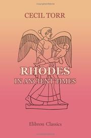 Rhodes in Ancient Times by Cecil Torr