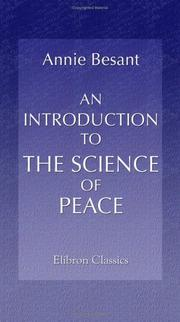 Cover of: An Introduction to the Science of Peace