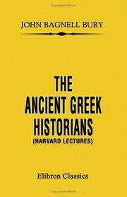 Cover of: The Ancient Greek Historians