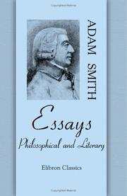 Cover of: Essays Philosophical and Literary