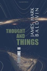 Cover of: Thought and things