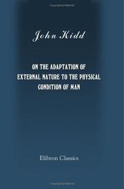 Cover of: On the Adaptation of External Nature to the Physical Condition of Man
