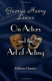 Cover of: On actors and the art of acting