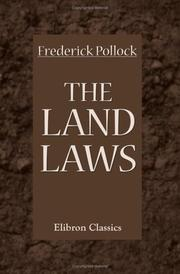 Cover of: The Land Laws | Sir Frederick Pollock