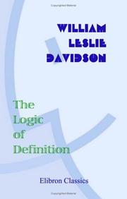 Cover of: The logic of definition