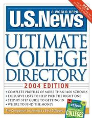 Cover of: U.S. News Ultimate College Directory 2004 (Us News Ultimate College Guide)