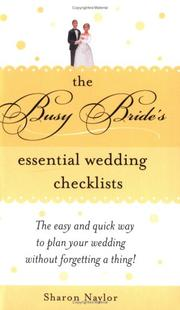 Cover of: The busy bride's essential wedding checklists
