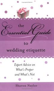 Cover of: Essential guide to wedding etiquette