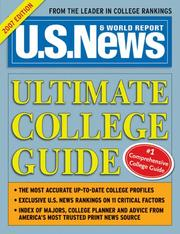 Cover of: U.S. News Ultimate College Guide 2007 (Us News Ultimate College Guide)