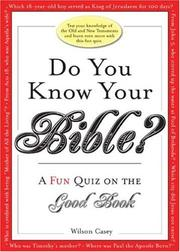 Cover of: Do You Know Your Bible? (Do You Know) (Do You Know...)
