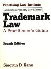 Cover of: Trademark law