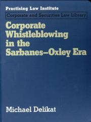 Cover of: Corporate Whistleblowing in the Sarbanes-Oxley Era