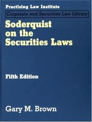 Cover of: Soderquist on the Securities Laws