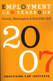 Cover of: Employment Law Yearbook 2007