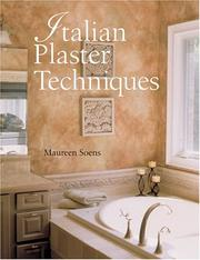 Cover of: Italian Plaster Techniques | Maureen Soens