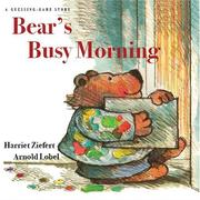 Cover of: Bear's Busy Morning: a guessing-game story