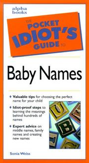 Cover of: The pocket idiot's guide to baby names