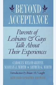 Cover of: Beyond acceptance | Carolyn Welch Griffin