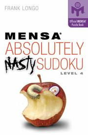 Cover of: Mensa Absolutely Nasty Sudoku Level 4