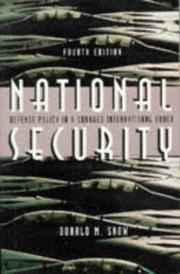 Cover of: National security