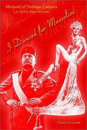 Cover of: I Danced for Mussolini