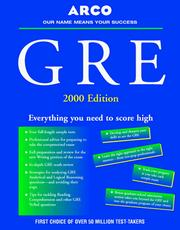 Cover of: GRE 2000 Edition (Master the Gre)