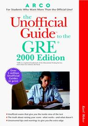 Cover of: UG/The GRE 2000 Edition (Unofficial Guides)