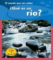 Cover of: Que es un Rio?/ What is a River? by Monica Hughes