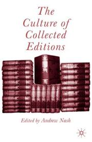Cover of: The culture of collected editions |