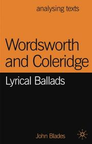 Cover of: Wordsworth and Coleridge | John Blades