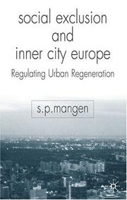 Cover of: Social Exclusion and Inner City Europe | Steen Paul Mangen